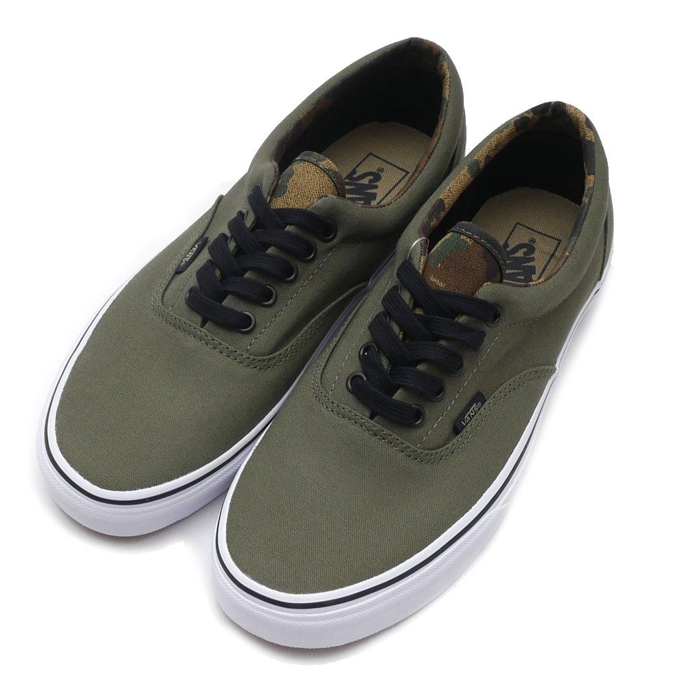6c7d15f7710885 VANS   Era (Vintage Camo) Ivy Green  Black