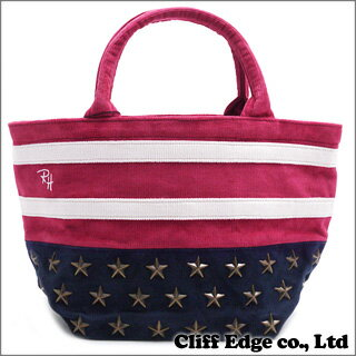 Ron Herman Christmas USA STUDS TOTE BAG CORDUROY (スタッズトートバッグ) REDxNAVY 277-001955-...