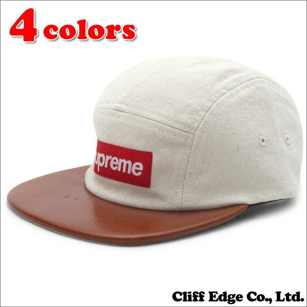 ca250facf6d SUPREME(シュプリーム) Denim Leather Visor Camp Cap (キャンプキャップ)(ボックスロゴ)  265-000581-011+ 新品