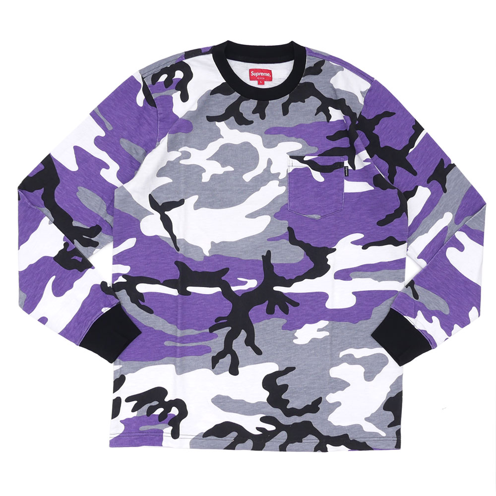 6ab676b6 The long sleeve version of popular pocket tee has arrived!! Tough PURPLE  CAMO pattern is designed on the whole body!