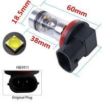 送料無料WD08爆光SHARP製LEDフォグランプ100W2個ホワイトH8/H11