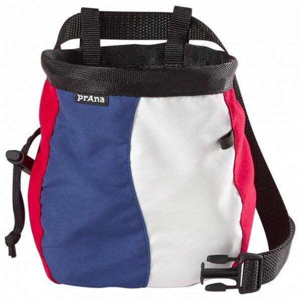 PRANA プラナ Geo Chalk Bag with Belt チョークバッグ(Red White Blue)★チョークバック・クライミング・チョークバッグ・ボルダリング★