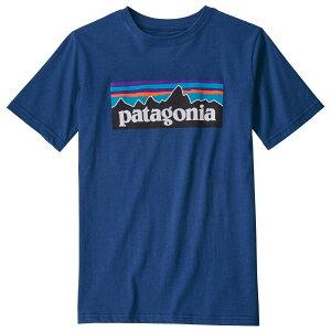 パタゴニア ボーイズ P-6ロゴ オーガニック Tシャツ ( Superior Blue )