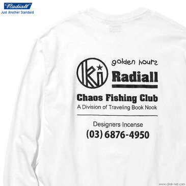 【RADIALL】 ラディアル RADIALL GOLDEN HOURS - CREW NECK T-SHIRT L/S (WHITE) メンズ Tシャツ 長袖 ホワイト