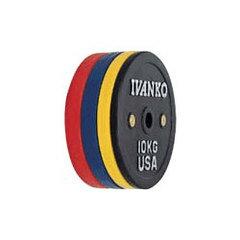 [ウェイトプレート]IVANKO OCBラバーウェイトリフティングオリンピックプレート 15kg