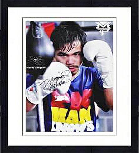 【直筆サイン入り】Framed Manny Pacquiao Autographed Phototgraph 6階級制覇王者マニー・パッキャオの直筆サイン付きフォト