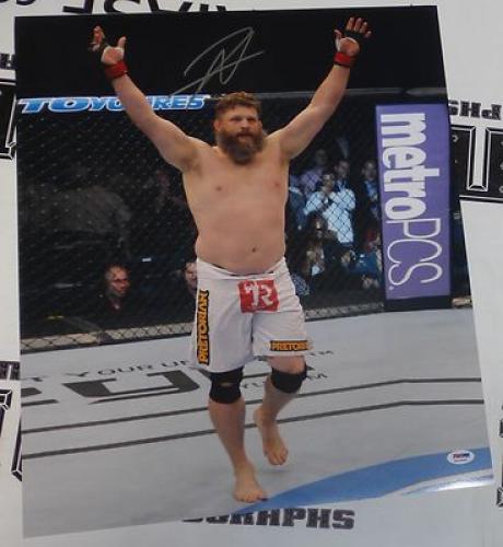 【直筆サイン入り】Roy Nelson Signed Autographed Poster 総合格闘家・元IFL世界ヘビー級王者 ロイ・ネルソンによるサイン付きフォト・ポスター。