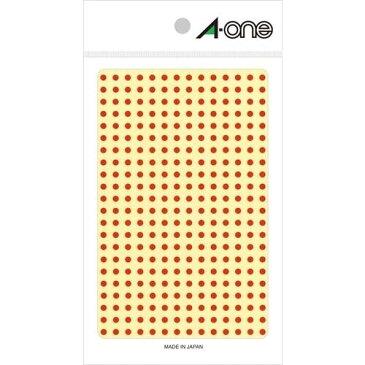 エーワン カラーラベル3mm丸 赤 - 送料無料※1000円以上 メール便発送