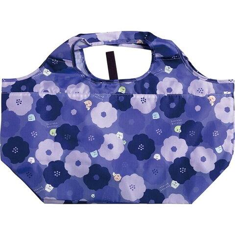 ショッピングバッグ レジカコ対応 すみっコぐらし 花柄 大容量 エコバッグ コンパクト - メール便発送