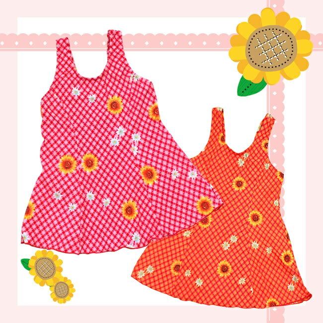 水着女の子ワンピース型キッズ/子供用水着/ガールズ/カラーPINK/RED