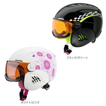【〜1/22(火) 13:00まで 最大800円OFFクーポン配布中!】ALPINA アルピナ ジュニア ヘルメット CARAT VISOR 17-18モデル 子供用 スキー スノーボード