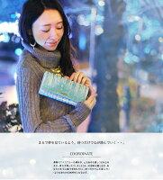 【オーロラ色に輝く長財布】レディース女性人気本革クリスマス誕生日大人可愛い水色イタリアレザープレゼントブルーおしゃれギフト