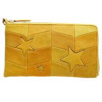 【星に願いを込めて・・。】やぎ革×スターモチーフが大人可愛い♪使いやすいL字財布。スマホも入る大容量サイズ!プレゼントにもおすすめ。収納力のバッチリ♪取り外し可能ハンドルつきステラ・ボヌール
