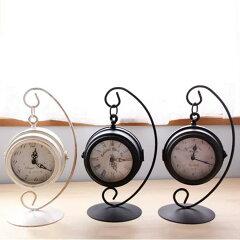 置き時計 ハンギングクロック【アンティーク 雑貨クロック 置き時計 おしゃれ インテリア雑貨 …