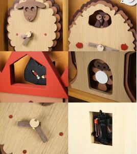【送料無料】振り子時計アニマル振り子時計【時計壁掛けインテリア掛け置き両用置き時計置時計時計かわいい木製木ナチュラル動物アニマル猫ネコ】