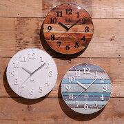 掛け時計 ビンテージウッドクロック アナログ おしゃれ ヴィンテージ 引っ越し ウォール クロック プレゼント バレンタイン