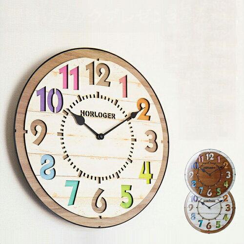 150円クーポン利用可★壁掛けフック特典有★掛け時計 電波時計 フォルリ CL-8332【壁...