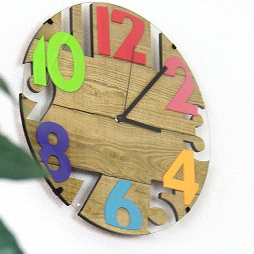 壁掛けフック特典有★電波時計 ラヴァン インターフォルム【掛け時計 掛時計 カラフル...