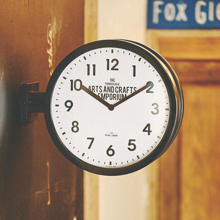 時計 掛け置き時計 ロベストン CL-2138|インターフォルム interform 壁掛け時計 アナログ クロック ダブルフェイス 両面時計 西海岸 ブルックリン インテリア雑貨 シンプル おしゃれ デザイン 新築祝い ギフト プレゼント ウォールクロック 結婚祝い