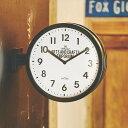 時計 掛け置き時計 ロベストン CL-2138【インターフォルム interform 壁掛け時計 アナログ クロック ダブルフェイス 両面時計 西海岸 ブルックリン インテリア 雑貨 シンプル おしゃれ デザイン 新築祝い ギフト プレゼント ウォールクロック 結婚祝い】