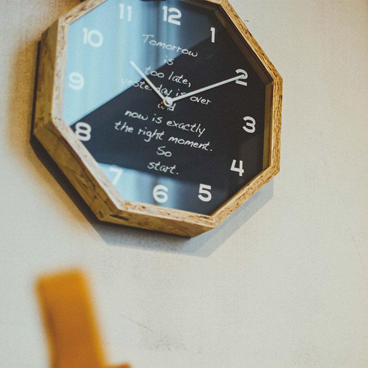 電波掛け時計 ビンテージウッドクロック