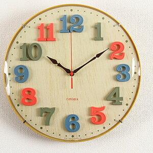 ポイント エアリアルキッズ おしゃれ 掛け時計 インテリア デザイン バレンタイン プレゼント 子供部屋 カラフル クロック