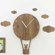 掛け時計 バルーン おしゃれ スイープ デザイン ナチュラル インテリア ウォール クロック プレゼント