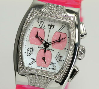 Techno Marlene DTSC02 diamond bezel chronograph rubber quartz Lady's watch ☆ box, guarantee memo