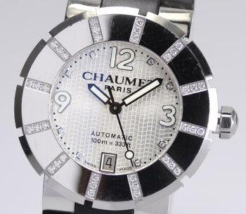 正規品☆【CHAUMET】ショーメクラスワンLMW17285-38F8Pダイヤインデックスダイヤベゼル自動巻き箱保証書付メンズ腕時計【中古】