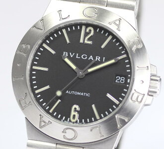 Bulgari Diagono sport LCV35S automatic black dial men's watch