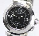 ※訳あり【Cartier】カルティエ パシャC W31076M7 黒文字盤 自動巻き ボーイズ腕時計 ...