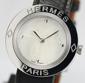 Hermes delimiting PP1.410 white shell characters Edition genuine □ K engraved leather belt quartz ladies watch box with