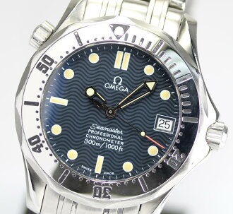 Omega Seamaster 300 2250.50 Navy letter Board SS breath self-winding watches boys