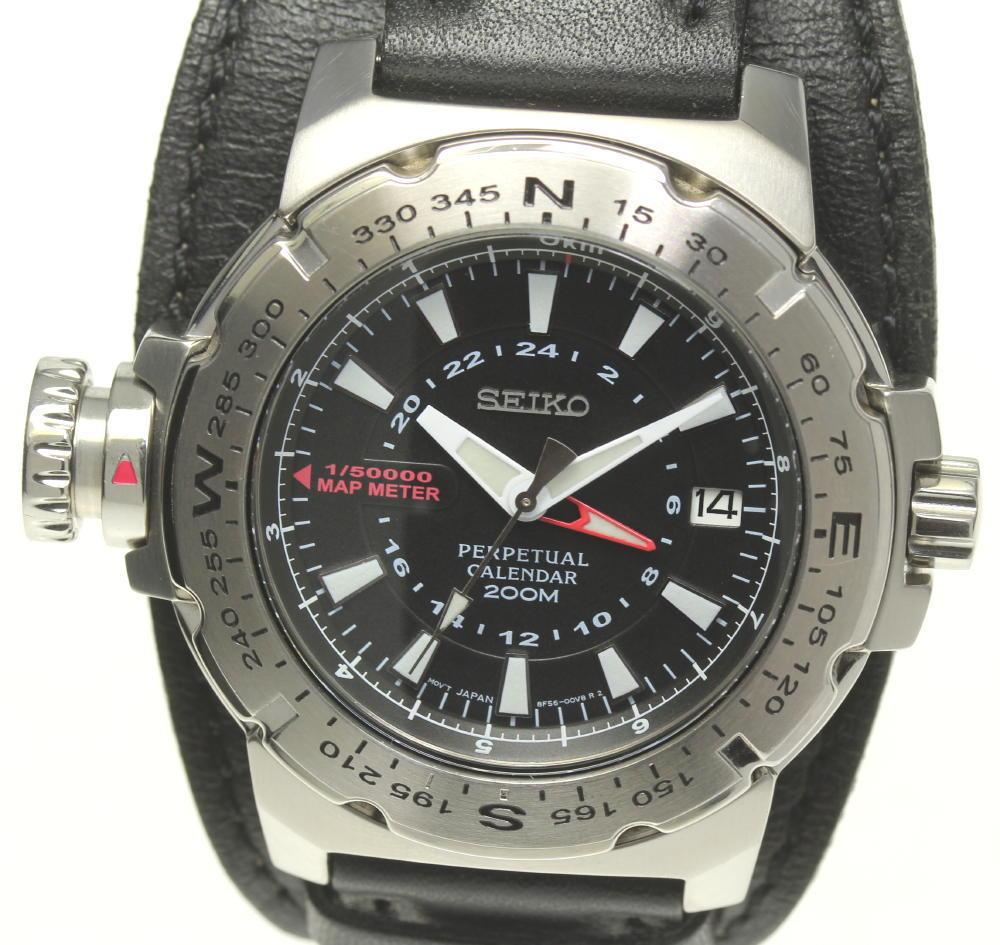 腕時計, メンズ腕時計 SEIKO 8F56-00L0 GMT QZ ev10
