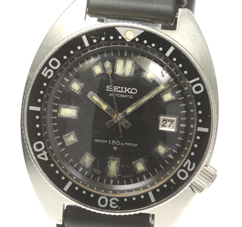 腕時計, メンズ腕時計 SEIKO 150M 2nd cal.6105A 6105-8000