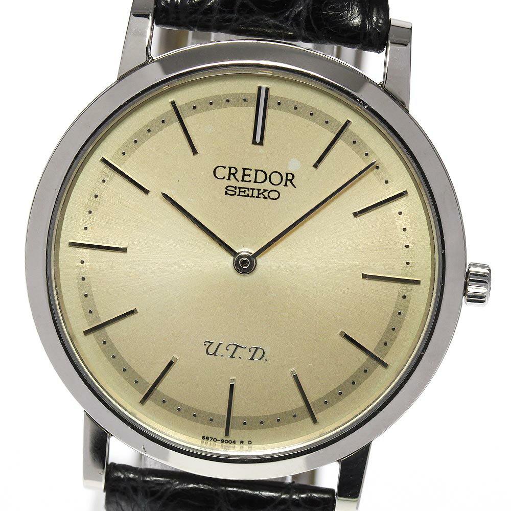 腕時計, メンズ腕時計 SEIKO K18WG Ultra Thin Dress U.T.D 120 6870-0010GBAQ987