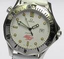 オメガ シーマスター 1994年オリンピック限定 革 QZ メンズ腕時計 ◆【中古】