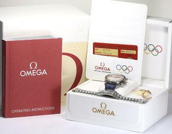 ※訳あり【OMEGA】オメガスピードマスター3538.30トリノ五輪2006本限定モデル自動巻メンズ腕時計/箱・ギャランティカード付【】