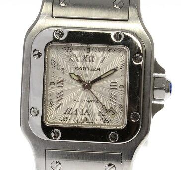 【Cartier】カルティエ サントスガルベ SM W20044D6 自動巻き レディース【180518】【18104】【中古】
