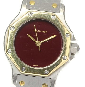 【Cartier】カルティエ サントスオクタゴンSM 自動巻き レディース【中古】【181004】