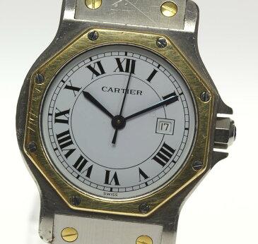 【Cartier】 カルティエ サントスオクタゴンLM SS×YG 自動巻き メンズ★【中古】