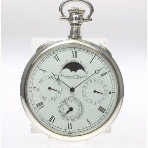 [IWC] International 5503 SV925 Moon Phase Triple Calendar Manual winding cal.9721 Pocket watch [19103] [ev10] [Used]
