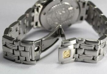 オメガシーマスター120シェル2PダイヤレディースQZ腕時計【】