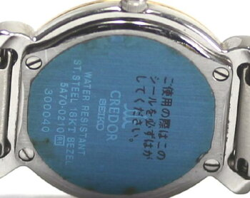 【SEIKO】セイコークレドール5A70-0210ダイヤベゼルQZ♪【】