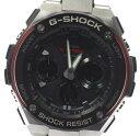 【カシオ】G-SHOCK G-STEEL ソーラー アナデジ メンズ 腕時計 ブラック レッド シルバー GST-S100D-1A4CR GST-S100D-1A4 メンズ【中古】