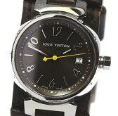 【Louis Vuitton】ルイ・ヴィトン タンブール Q1211 純正革ベルト クォーツ レディース【中古】