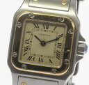 【Cartier】 カルティエ サントスガルベ SM W20012C4 YGコンビ 観音バックル Q ...