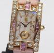 美品 ハリー ウィンストン レディ アヴェニュー オーロラ 310LQR ダイヤモンド ピンクサファイア K18PG ピンクシェル QZ レディース腕時計【中古】