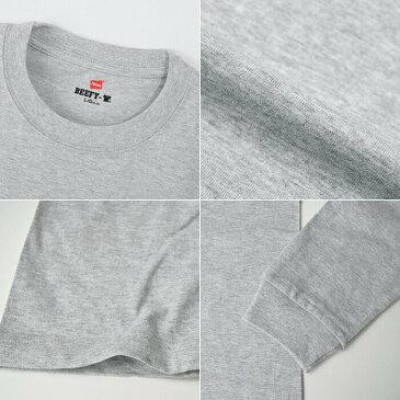 【週末開催!Hanes商品5,500円以上購入で5%OFFクーポン!】【メール便送料無料】 Hanes BEEFY T-SHIRT ヘインズ ビーフィー ロングスリーブTシャツ パックT 1P/メンズ ロンT 長袖Tシャツ 無地 厚手 Hanes コットン 100% 綿 ホワイト 白 H5186