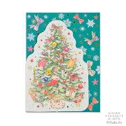 クリスマスカード グリーティングカード クローズピン ClothesPin